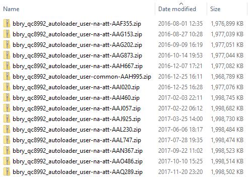 BlackBerry Priv AT&T Autoloaders, including old for debloating