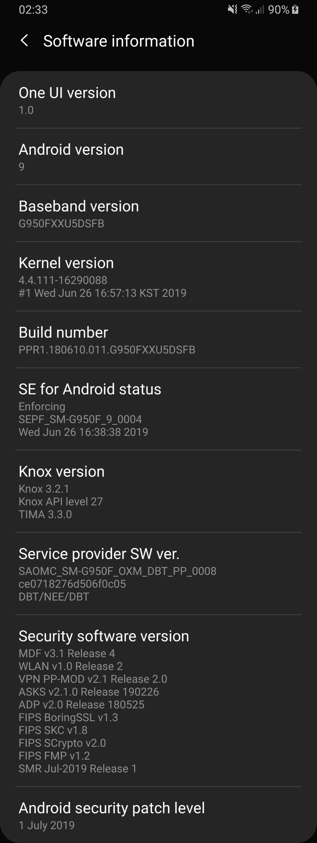 Security updates for Samsung S8   EskeRahn
